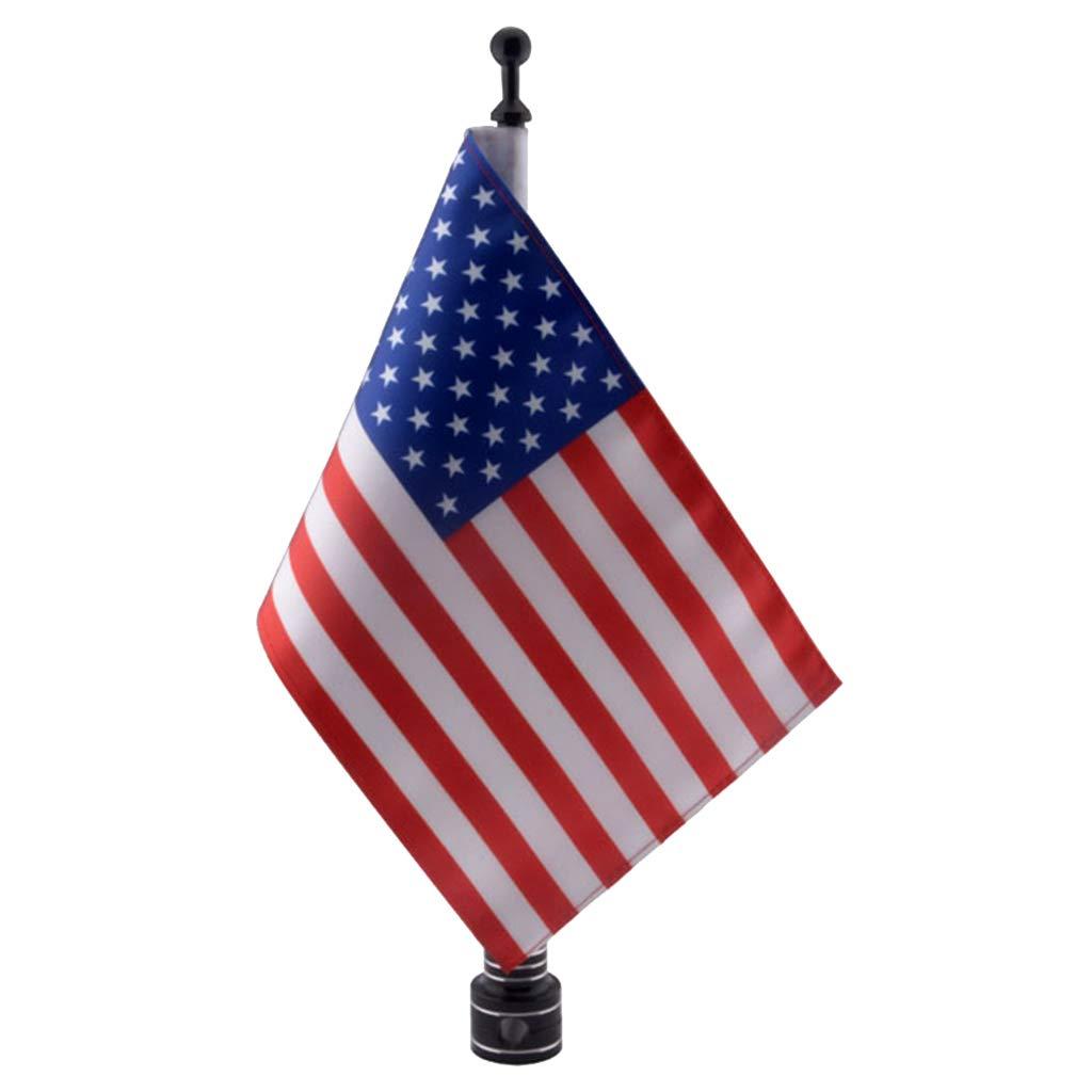 Drapeau des Etats Unis perfeclan M/ât de Drapeau T/élescopique en Aluminium avec Drapeau Universel pour Moto