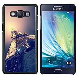 Dragon Case - FOR Samsung Galaxy A5 A5000 A5009 - Eifel tower Paris light night city France - Caja protectora de pl??stico duro de la cubierta Dise?¡Ào Slim Fit