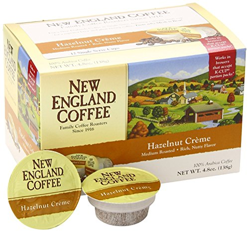 New England Coffee Hazelnut Crème K-Cups. 12 Single Serve Cups Per Box (Pack Of -