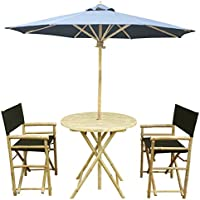 Groovy Sale Zew 4 Piece Bamboo Outdoor Bistro Patio Set With Round Home Interior And Landscaping Staixmapetitesourisinfo