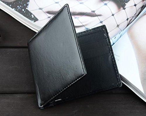 cartes Argent Homme Synthétique Pour D'identité Cuir Couleurs Poches Fantiff Noir 2 Avec monnaie En Porte nzYqxFwHfv