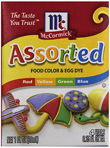McCormick Food Colors & Egg Dye, 4 Assorted Colors, 0.25 oz