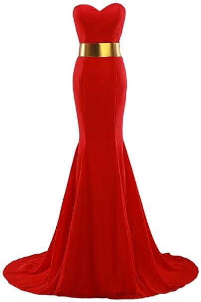Callmelady Sirena Vestidos de Alfombra Roja Trompeta Vestidos de Fiesta Largos Celebridad Vestidos de Noche: Amazon.es: Ropa y accesorios