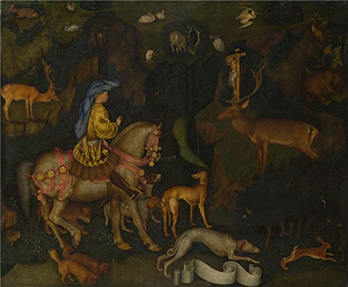 Oil Painting 'Pisanello The Vision Of Saint Eustace', 20 x 24 inch / 51 x 62 cm , on High Definition HD canvas prints is for Gifts And Bar, Bed Room And Home Theater Decoration, quick