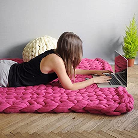 Extra Warm Chunky Knit Blanket Giant Knit Blanket Chunky Blanket Merino Wool Arm Knitting Handmade Blanket Throw Home Decor Photography Props Gift 79 X79