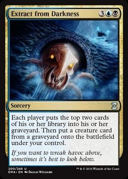 Magic: the Gathering - Extract from Darkness (200/249) - Eternal Masters (Mtg Extract From Darkness compare prices)