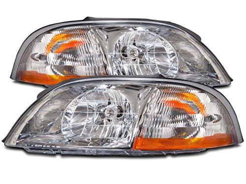 HEADLIGHTSDEPOT Compatible with Ford Windstar Headlights Headlamps New Set Pair ()