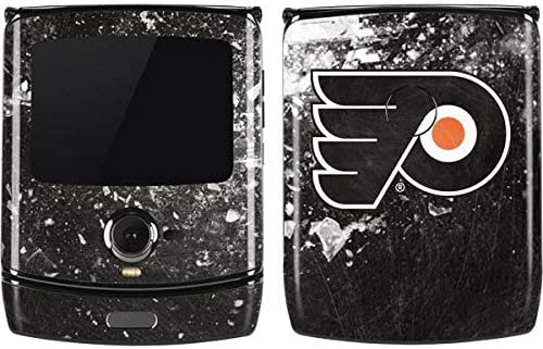 Amazon Com Skinit Decal Phone Skin For Motorola Razr Officially Licensed Nhl Philadelphia Flyers Frozen Design Electronics