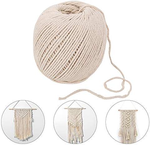 Ulikey Cuerda de Algodón Natural, 200m x 3mm Cuerda Cordel de ...