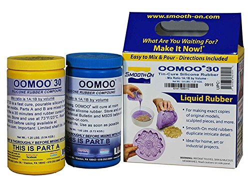 smooth-on-silicone-mold-making-liquid-rubber-oomoo-30-easy-to-use-trial-size-28-lb