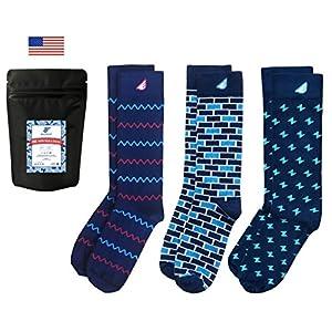 Boldfoot Socks - Premium Quality Colorful Women's Dress Socks - American Made - 3-pack, Navy