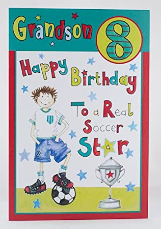 Happy 8th Birthday Grandson Card