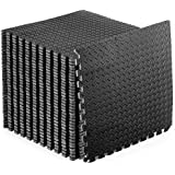 ProsourceFit Puzzle Exercise Mat  EVA Foam Interlocking Tiles  Protective Flooring for Gym Equipment and Cushion for Workouts