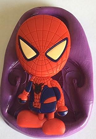 Spider Man Silikon Mould Mold Moulds Marvel Super Hero Kuchen