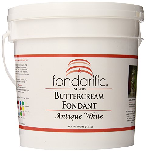 Fondarific Buttercream Antique White Fondant, 10-Pounds