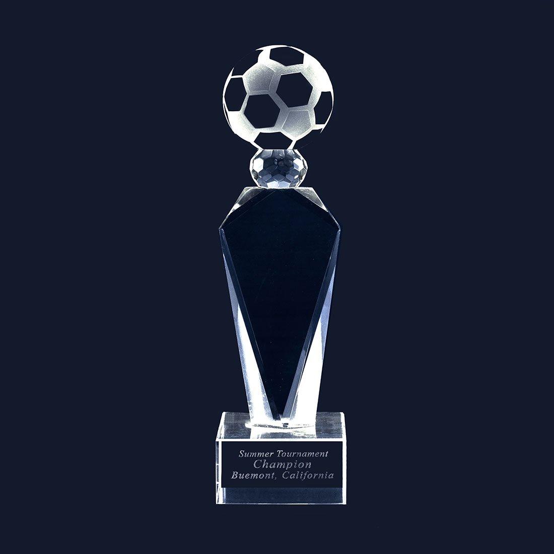 The Football Twin会社カスタマイズレーザーTrophy彫刻クリスタルガラスSoccer Large The Football Trophy Includeベース彫刻 B07BZMGWLT Large, bonico (ボニコ):96beab3d --- acee.org.ar