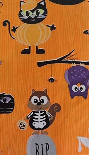 Haunted Halloween Vinyl Tablecloth 60
