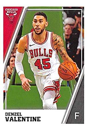 a4a60de8fce 2018-19 Panini NBA Stickers #72 Denzel Valentine Chicago Bulls NBA  Basketball Sticker Trading