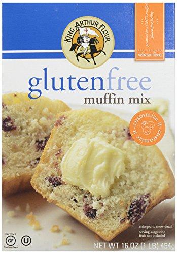 King Arthur Gluten Free Muffin Mix, 16 (Fat Free Muffins)
