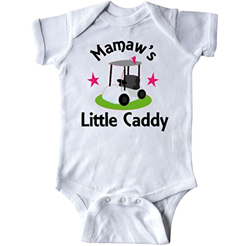 Grandma Golf Shirt (inktastic Golfing Mamaw Little Caddy Childs Golf Infant Creeper 6 Months White)