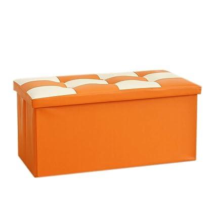 Amazon Com Alwud Square Storage Ottoman Bench Faux Leather