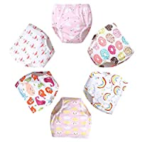 Goodkids Newborn Baby CottonTraining Pants Padded Toddler Potty Training Cute Underwear Pack for Boy and Girl (C 100)