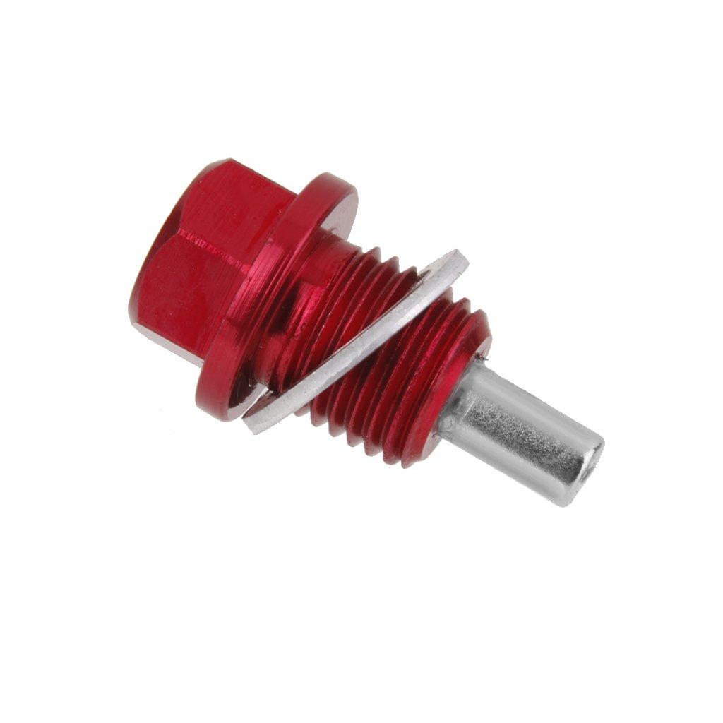 M14X1.5 Magnetische /Ölablassschraube eloxiert /Ölwanne Drain Plug Rot