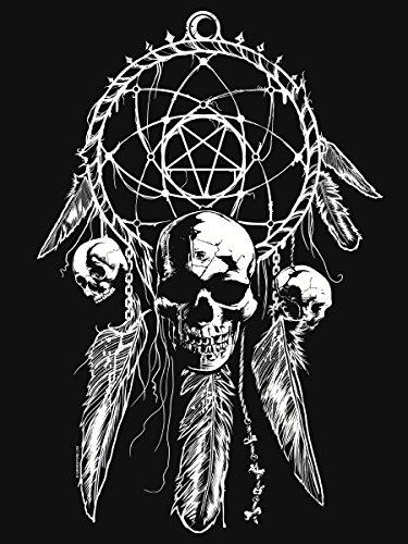 Unorthodox canotta svasata Gothic Dreamcatcher da donna in nero