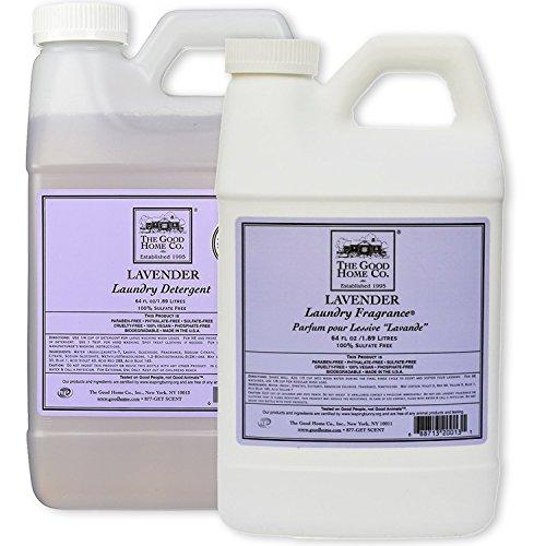 Natural Liquid Laundry Detergent Refill, 64-Load (64 fl. Oz) + Liquid Laundry Fabric Softener 64 Oz. Refill - The Good Home, Scent - Lavender