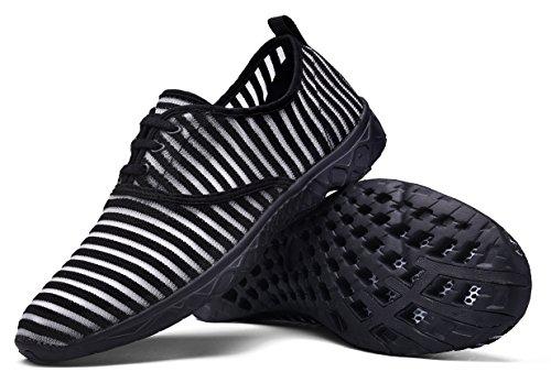 Mohem Poseidon Femmes Air Séchage Rapide Aqua Chaussures Slip-on Chaussures De Leau Casual Mesh Chaussures De Marche Black077