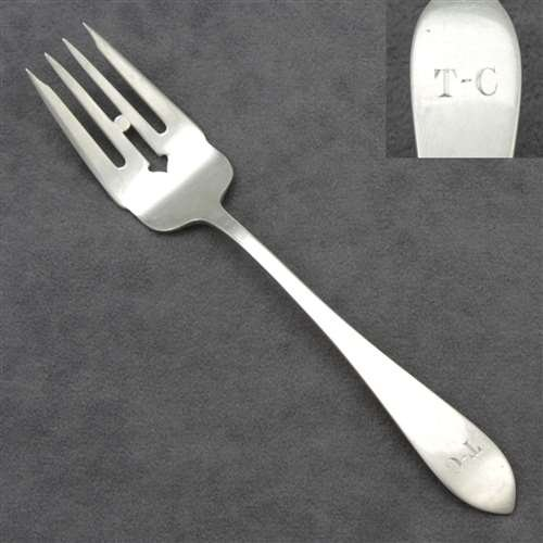 Pointed Antique by Reed & Barton, Sterling Dessert Fork