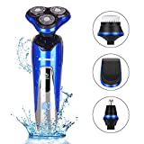 BESWILL Electric Shaver, Rotary Shaver Electric Razor for Men 4-in-1 Rechargeable 100% Waterproof