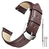 Ritche 22mm Brown Genuine Leather Watch Bands Strap Replacement 18mm 20mm 22mm for Men and Women