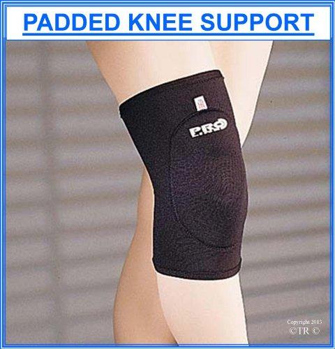 Proline Padded Knee Support In Neoprene, Color - Black, Size - Medium