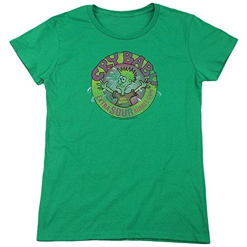 Trevco Dubble Bubble Logo Women's T Shirt, Medium Kelly Green