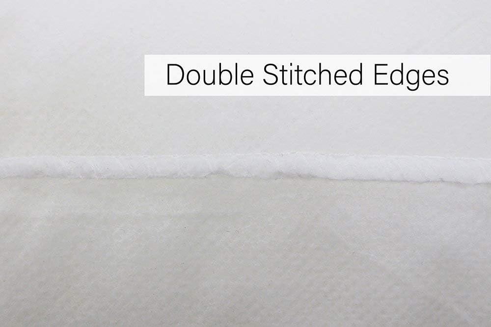 Lot de 4/oreillers blancs luxueux en fibre creuse 45 x 45 cm Polypropyl/ène /hypoallerg/éniques Doubles coutures/ blanc Lavables en machine,/par Bluemoon Bedding/®