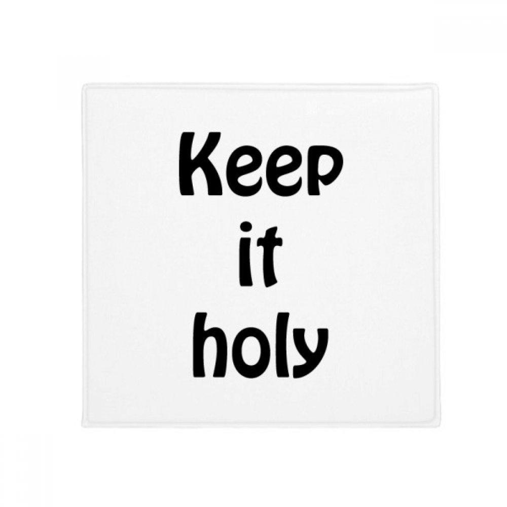 DIYthinker Keep It Holy Christian Quotes Anti-slip Floor Pet Mat Square Bathroom Living Room Kitchen Door 60/50cm Gift