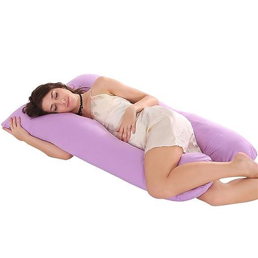 Jian Ya Na - Almohada de Lactancia en Forma de U para Dormir Lateral, Almohada de algodón cómoda para Dormir, cojín de Lactancia para bebé, Funda de ...