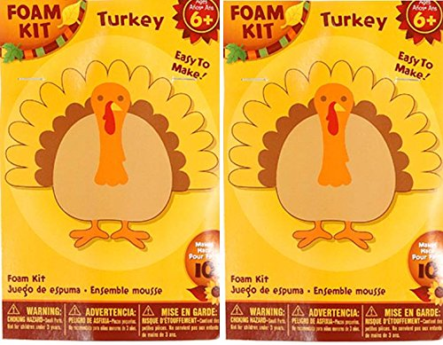 Nikki's Knick Knacks Foam Turkey Craft Kit- Makes 20