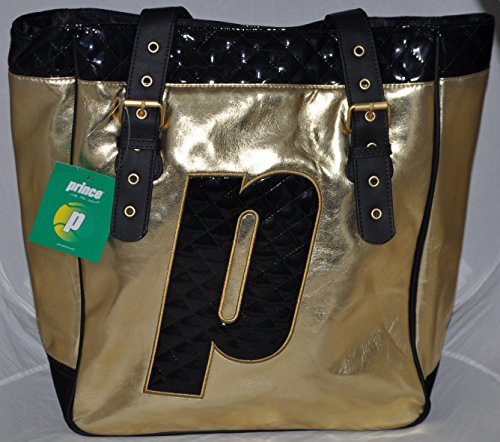 Prince Nylon Tote - PRINCE Gold Tote Bag / Tennis Bag officially styled after Maria Sharapova