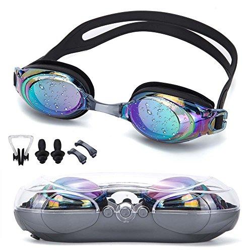 Kinsports Swimming Goggles,Triathlon Swim Goggles No Leakage Effective Anti Fog Shatterproof UV Protection,Suit for Men Women Kids-Best Swim Goggles (Black - Triathlon Suit Best