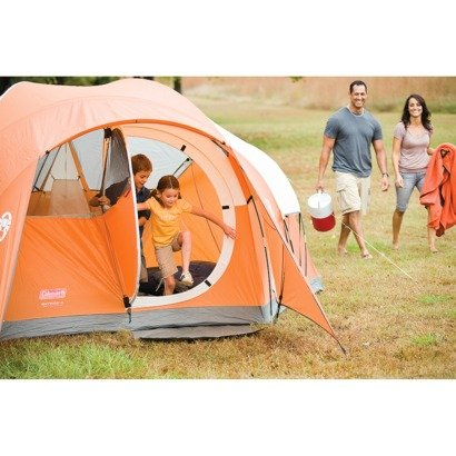 Amazon.com  Coleman Bayside 6-Person Family Tent - Orange  Sports u0026 Outdoors  sc 1 st  Amazon.com & Amazon.com : Coleman Bayside 6-Person Family Tent - Orange ...