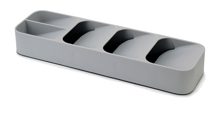 Joseph Joseph 85119 DrawerStore Kitchen Drawer Organizer Tray for Cutlery Silverware, Gray