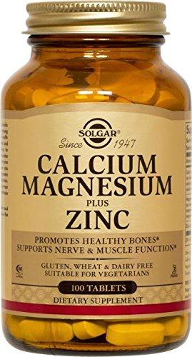 Solgar – Calcium Magnesium Plus Zinc, 100 Tablets