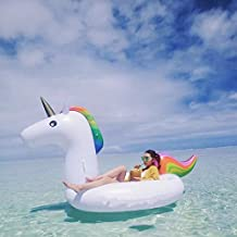 Giant Unicorn Swimming Island Inflatable Raft, Swimming Rings Inflatable Water Float Toys for Adults and Kids Used in Swimming pool, Oceans and Lakes