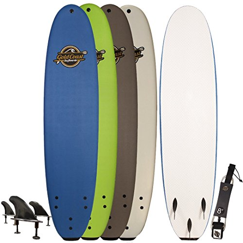Gold Coast Surfboards Soft Top Surfboard | 8' Verve Surf Board | Fun Performance Foam Surf Boards | Great For All Surfing Skill Levels