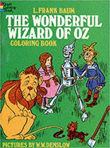 the wonderful wizard of oz coloring book dover classic stories coloring book l frank baum coloring books 9780486204529 amazoncom books