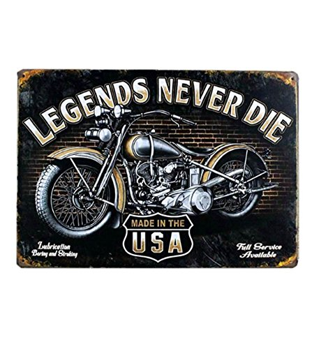 Motorcycle Biker Metal Sign - 1