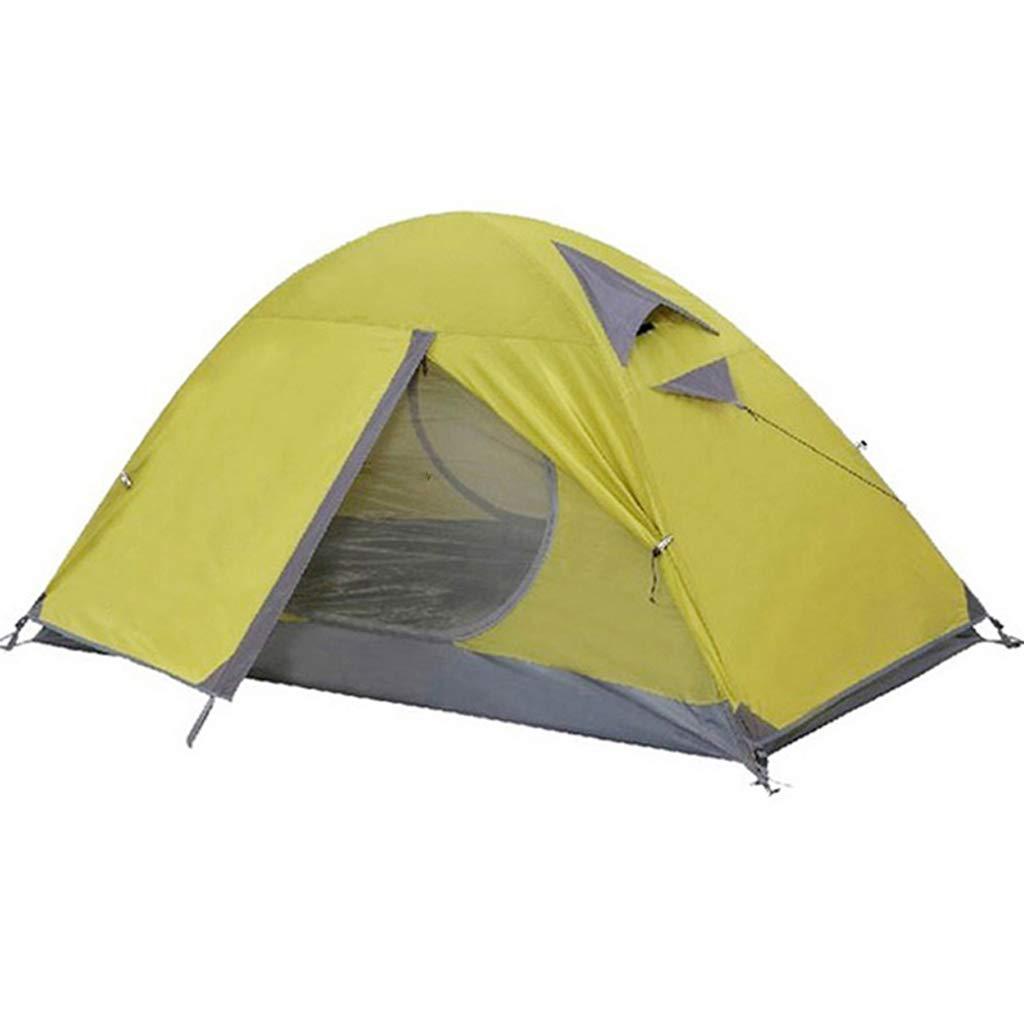 AX-outdoor products Zelten Sie Einzelne kampierende Überdachung tragbares im Freien Doppeltes Wasserdichtes Markisenpolyestertuch/grüne Farbe 210  100  100cm