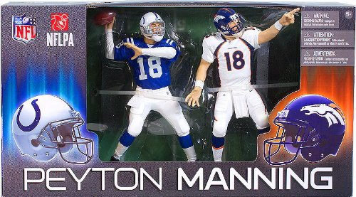 NFL Denver Broncos - Indianapolis Colts McFarlane 2012 Peyton Manning Collector?s Edition Action Figure 2-Pack (Collectors Peyton Manning)